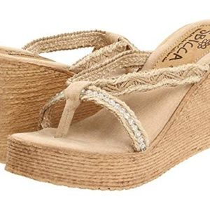 Sbicca Jewel Thong Wedge Sandals